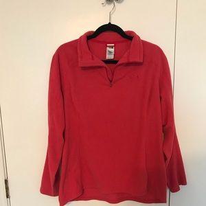 A quarter zip North Face pullover jacket